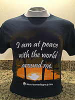 I am at peace with the world around me